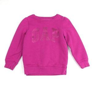 Gap Glitter Logo Crew Neck Sweatshirt Size 4 Years